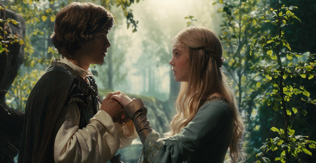 "Disney's ""Maleficent""..L to R: Prince Phillip (Brenton Thwaites) and Aurora (Elle Fanning)..Ph: Film Frame..?Disney 2014"